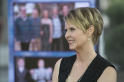 Cynthia Nixon appeared on 'Today' wearing her hair in an edgy layered razor cut.