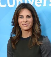 Jillian Michaels styled her hair in a high-volume wavy 'do for the 2013 Winter TCA Tour.