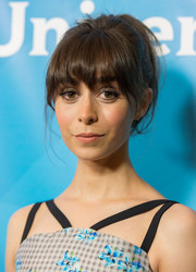 Cristin Milioti attended NBCUniversal's Summer TCA Tour wearing a retro mussed-up ponytail.