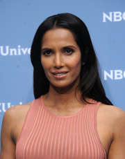 Padma Lakshmi opted for a casually elegant center-parted hairstyle when she attended the NBCUniversal Upfront.
