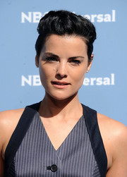 Jaimie Alexander went funky with this flat-top at the NBCUniversal Upfront.