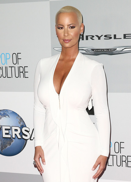 Amber Rose showed off her curves in all white.