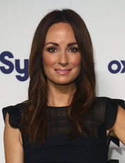 Catt Sadler opted for a simple yet pretty center-parted 'do when she attended the NBCUniversal Cable Entertainment Upfronts.