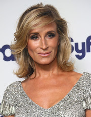 Sonja Morgan wore her hair in lovely feathered waves during the NBCUniversal Cable Entertainment Upfronts.