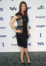 Gail Simmons chose a stylish mesh-panel LBD for the NBCUniversal Cable Entertainment Upfronts.