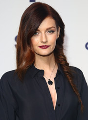 Lydia Hearst's hairstyle at the NBCUniversal Cable Entertainment Upfronts certainly looked unique with one side loose and the other braided.