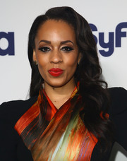 Melyssa Ford's wavy hairstyle at the NBCUniversal Cable Entertainment Upfronts had an Old Hollywood feel.