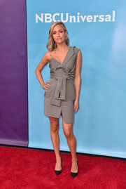 Kristin Cavallari rocked a deconstructed gray blazer dress by Alexander Wang at the 2018 NBCUniversal Summer Press Day.