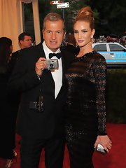 Rosie Huntington-Whiteley slipped on an exquisite oval tiger ring with pave border for the Costume Institute Gala at the Met.