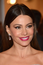 Sofia Vergara added a pop of shimmery cranberry-colored lipstick for the Met Gala.