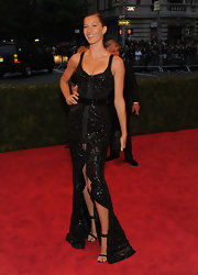 Gisele was phenom at the Met Gala in this zip-up beaded fishtail gown.
