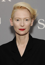 Tilda Swinton looked oh-so-cool with her anime hair at the New York special screening of 'The Souvenir.'