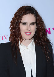 Rumer Willis wore her auburn curls in long layers while attending a celebration for 'Nylon' magazine's annual young Hollywood issue.