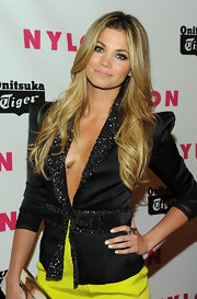 Amber Lancaster rocked a gemstone cocktail ring to the NYLON Magazine party.