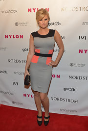 Sasha Jackson rocked this color-blocked dress at the Nylon Young Hollywood Celebration.
