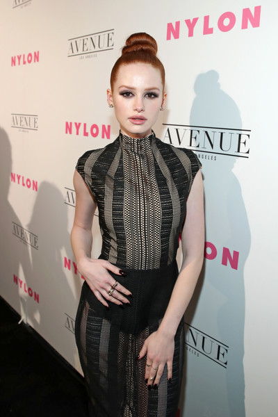 More Pics of Madelaine Petsch Sheer Dress (1 of 6) - Madelaine Petsch Lookbook - StyleBistro [hair,face,clothing,hairstyle,fashion,dress,beauty,skin,fashion model,lip,madelaine petsch,nylon,los angeles,avenue los angeles,nylon young hollywood party,california,young hollywood party]
