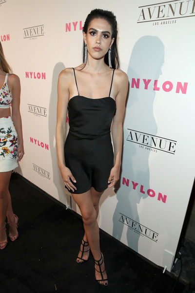 Amelia Gray Hamlin complemented her LBD with chic black gladiator heels.