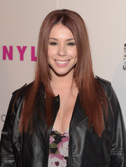 Jillian Rose Reed opted for a straight hairstyle instead of her usual waves when she attended the Nylon Young Hollywood Party.