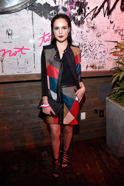 Bailee Madison looked oh-so-cool in her BCBGeneration color-block leather vest and skirt ensemble at the Nylon Young Hollywood party.