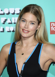 Doutzen Kroes kept it casual yet cute with this center-parted 'do at the Naked Heart Foundation's Fabulous Fund Fair.