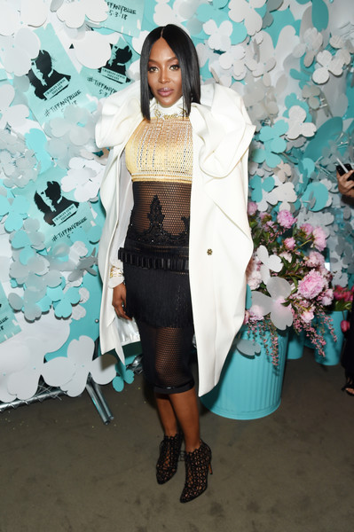 Naomi Campbell Cutout Boots [turquoise,clothing,fashion,outerwear,leg,footwear,fashion design,dress,formal wear,naomi campbell,believe in dreams campaign launch,new york city,tiffany co,paper flowers event,event,campaign launch]