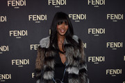 Naomi Campbell Fur Coat