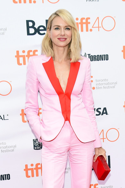 Naomi Watts Box Clutch [clothing,pink,suit,outerwear,pantsuit,blazer,premiere,long hair,formal wear,magazine,naomi watts,about ray tiff,canada,toronto,princess of wales theatre,weinstein company,screening,about ray tiff screening]