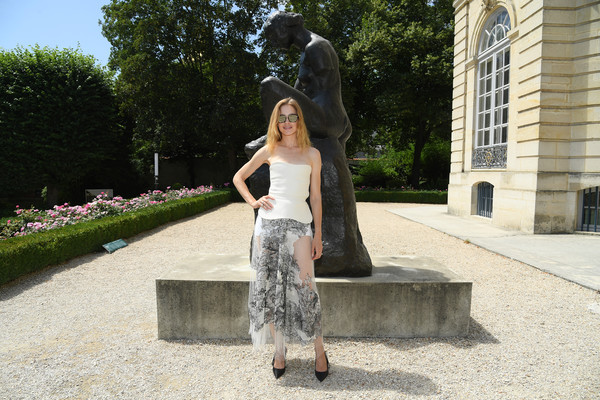 Natalia Vodianova Sheer Skirt