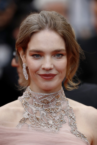 Natalia Vodianova Loose Bun [hair,face,hairstyle,eyebrow,lip,blond,lady,skin,shoulder,beauty,natalia vodianova,screening,le belle epoque,cannes,france,red carpet,the 72nd annual cannes film festival]