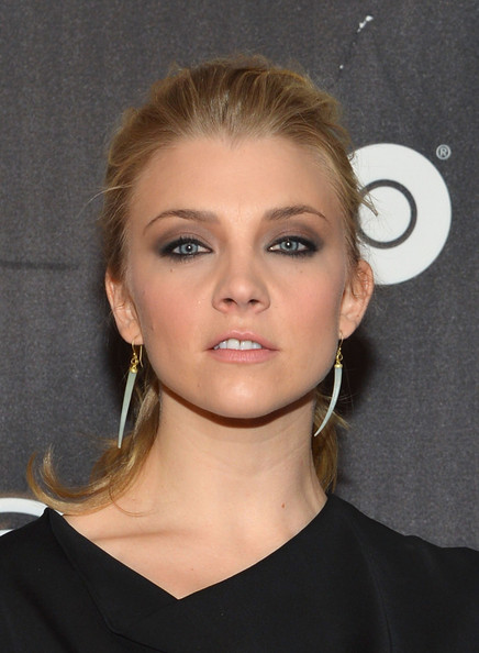 Natalie Dormer Dangle Decorative Earrings [game of thrones,hair,face,eyebrow,hairstyle,blond,lip,chin,beauty,cheek,skin,arrivals,natalie dormer,new york city,west 57th avenue,exhibition new york]