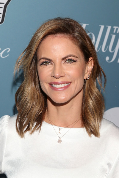 Natalie Morales Medium Wavy Cut [the hollywood reporter,hair,eyebrow,beauty,human hair color,hairstyle,blond,chin,long hair,fashion model,forehead,power 100 women in entertainment - red carpet,natalie morales,california,los angeles,hollywood reporter,milk studios]