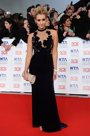 Catherine Tyldesley wore a smoldering velvet gown to the National Television Awards.