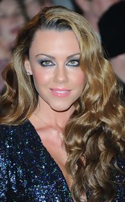 Michelle Heaton chose pink lipstick for the National TV Awards.