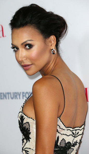 Naya Rivera Loose Bun