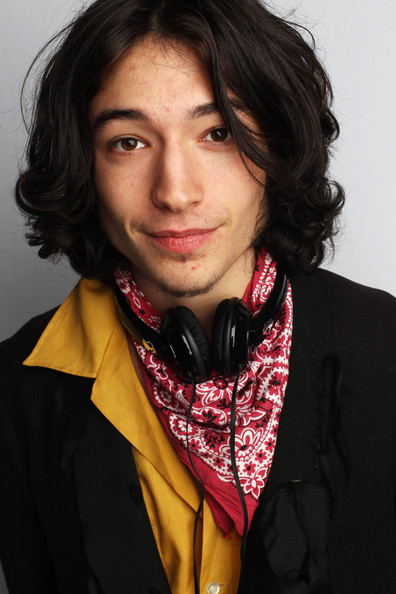 Ezra Miller looked dreamy wearing his short curly hair as he posed for the portrait session of 'We Need To Talk About Kevin'.