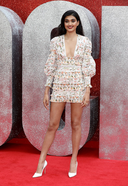 Neelam Gill Pumps [clothing,fashion model,red carpet,fashion,carpet,thigh,leg,dress,flooring,premiere,red carpet arrivals,neelam gill,ocean,uk,england,london,cineworld leicester square,premiere,uk premiere]