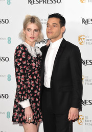 Lucy Boynton accessorized with a statement ring by Swarovski at the Nespresso British Academy Film Awards nominees party.