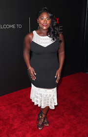 Danielle Brooks teamed her dress with sexy black lace-up heels.