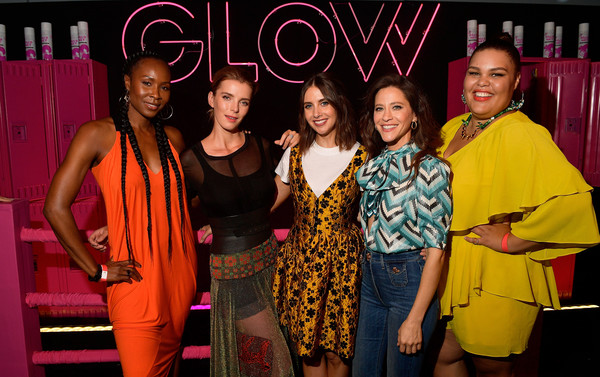 More Pics of Jackie Tohn Pumps (1 of 8) - Heels Lookbook - StyleBistro [glow celebrates its 10 emmy nominations with roller-skating,fashion,event,fashion design,performance,talent show,jackie tohn,britney young,betty gilpin,sydelle noel,alison brie,nominations,world,netflix,event]