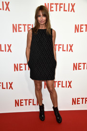 Axelle Laffont donned a mod little black dress for the Netflix launch party in Paris.