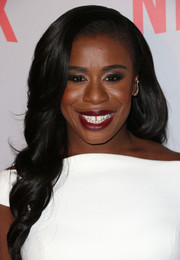 Uzo Aduba showed off perfectly styled spiral curls at the 'Orange is the New Black' Q&A.