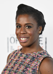 Uzo Aduba rocked a sleek pompadour during the 'Orange is the New Black' panel discussion.