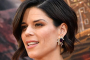 Neve Campbell Dangling Gemstone Earrings