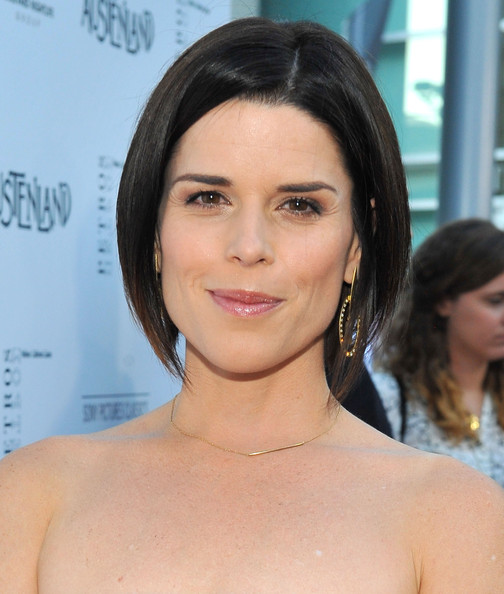 Neve Campbell Graduated Bob [austenland,hair,face,hairstyle,eyebrow,shoulder,skin,chin,lip,beauty,black hair,red carpet,neve campbell,arclight hollywood,california,sony pictures classics,premiere,premiere]