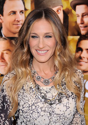 Sarah Jessica Parker wore a 19th century diamond cluster necklace at the NYC premiere of 'New Year's Eve.'