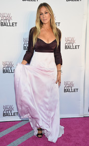 Sarah Jessica Parker chose a two-tone evening dress by Narciso Rodriguez for the New York City Ballet Fall Gala.