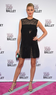 Constance Jablonski sealed off her look with barely-there heels.