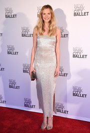 Anne V gleamed in a silver slip dress by Adam Lippes at the New York City Ballet Spring Gala.