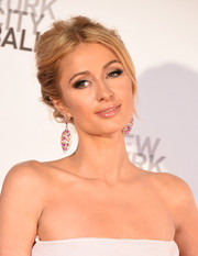 Paris Hilton got all glammed up with this loose bun for the New York City Ballet Spring Gala.