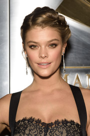 Swimsuit model Nina Agdal looked bridesmaid-ready in this braided updo.